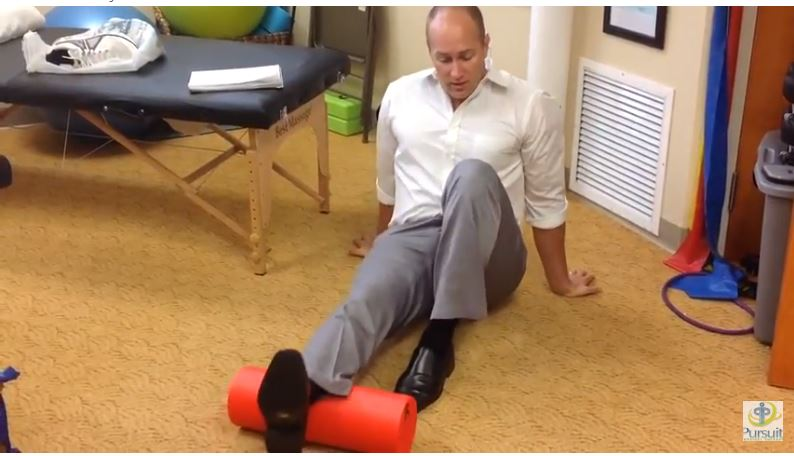 How to foam roll your calves