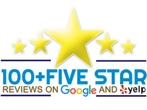 Over 100 five star reviews on Google