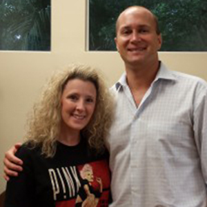 Dr. Ron Miller with Jenn