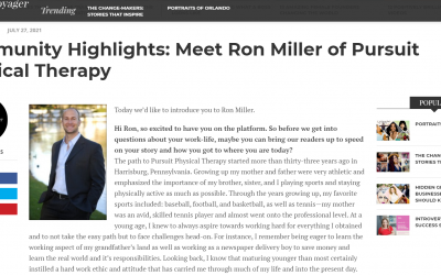 Orlando Voyager Magazine Interviews Dr. Ron Miller, DPT Of Pursuit Physical Therapy